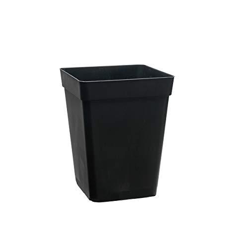 Practicas y funcionales macetas cuadradas 11 litros de color negro