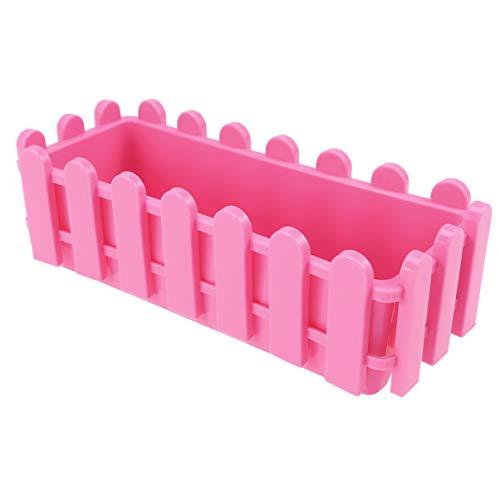 Macetas de plastico rectangulares pequeñas para usar en ventana