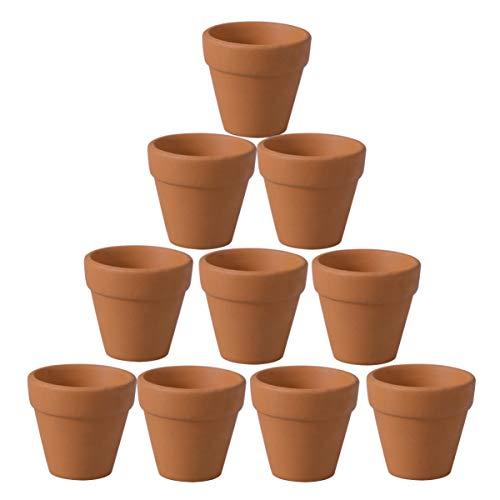 20 unidades de macetas de barro pequeñas para huerto y jardieria
