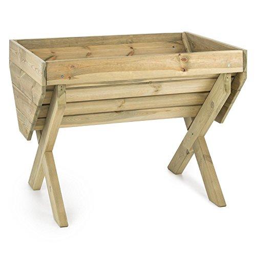 Macetas de madera para jardin y balcon resistentes al clima exterior