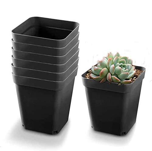 Juego de 20 pcs de Maceteros de Plastico Cuadrados para jardineria