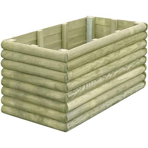Prácticos y funcionales maceteros de madera grandes para usar en tu terraza