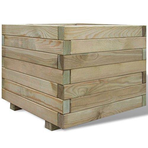 Macetas de madera grandes para usar en terraza como jardinera