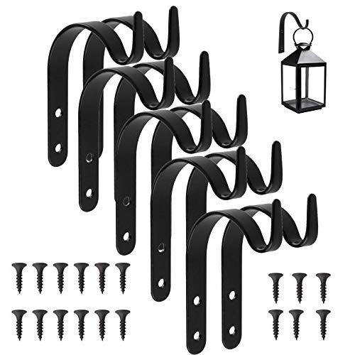 10 × Ganchos de Metal, Soportes Colgantes para Plantas de Jardín de Hierro de Pared, Soporte de...