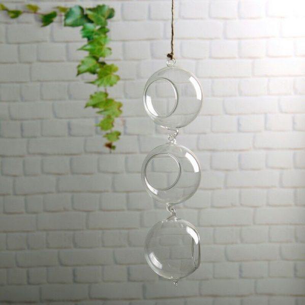 macetas cristal colgantes