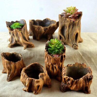 Macetas de madera natural baratas