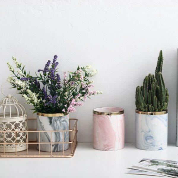Macetas de cerámica para escritorios modernas