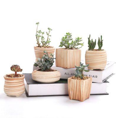 maceteros madera imitacion baratos