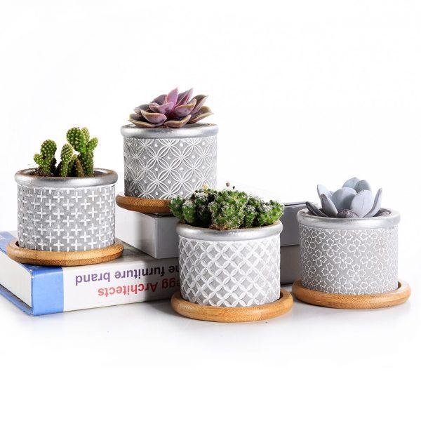 Macetas cemento modernas