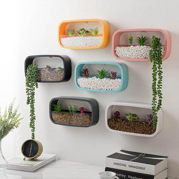 Maceteros rectangulares para colgar en pared baratos