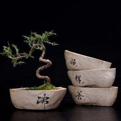 Macetero de piedra artificial para bonsai barato