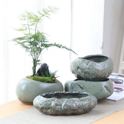 maceteros de piedra artificial pequeños originales