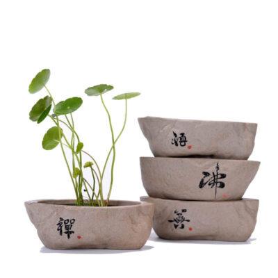 Macetero de piedra artificial para bonsai moderno